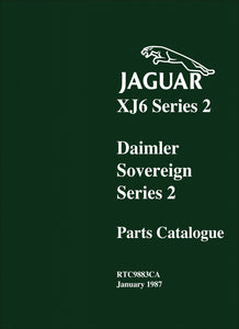 Jaguar XJ6 Series 2 & Daimler Soverign Series 2 Parts Catalog