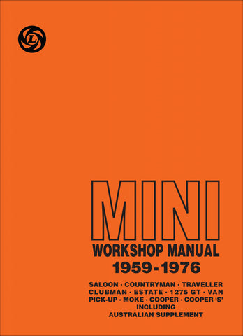 Mini Workshop Manual (Australian Version Supplement)