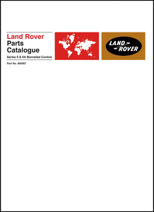 Land Rover Series 2 & 2A Bonneted Control Parts Catalog