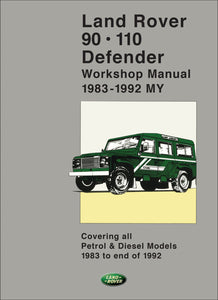 Land Rover 90 - 110 - Defender Workshop Manual 1983-1992 (2 volumes)