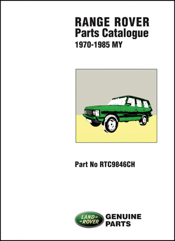 Image of Range Rover Parts Catalog 1970-1985 MY