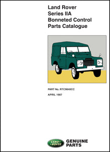 Land Rover Series 2A Bonneted Control Parts Catalog