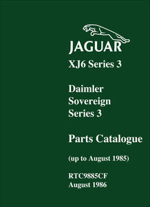 Jaguar XJ6 Series 3 & Daimler Soverign Series 3 Parts Catalog