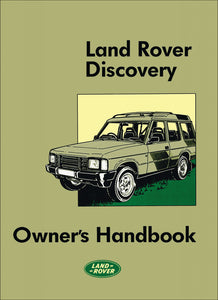 Land Rover Discovery Owner's Handbook 1989-1990