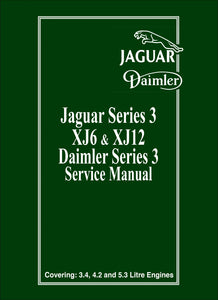 Jaguar XJ6 & XJ12 Series 3 Service Manual
