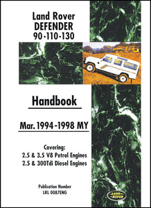 Land Rover Defender 90-110-130 Owner's Handbook 1994-1998