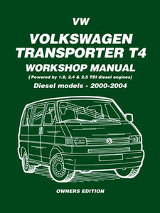 Volkswagen Transporter T4 Workshop Manual Diesel Models 2000-2004