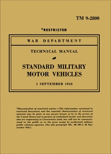 Standard Military Motor Vehicles Technical Manual