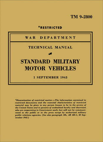 Image of Standard Military Motor Vehicles Technical Manual