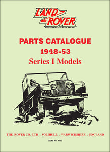 Land Rover PC Series 1 Models Parts Catlog 1948-1953
