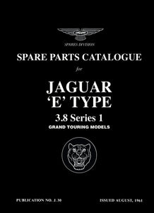 Jaguar E-Type 3.8 Series 1 Spare Parts Catalog