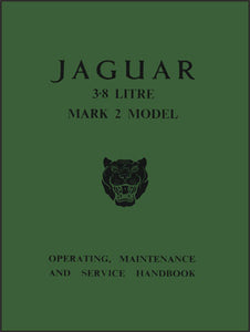 Jaguar 3.8 Litre Mark 2 Model Owner's Handbook