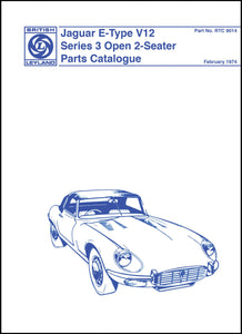 Jaguar E-Type V12 Series 3 Open 2-Seater Parts Catalog