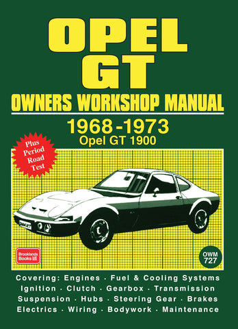 Opel GT Owner's Workshop Manual 1968-1973