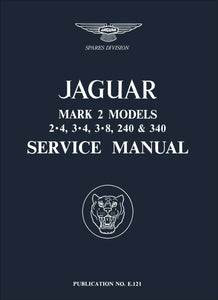 Jaguar Mark 2 Models 2.4, 3.4, 3.8, 240 & 340 Service Manual