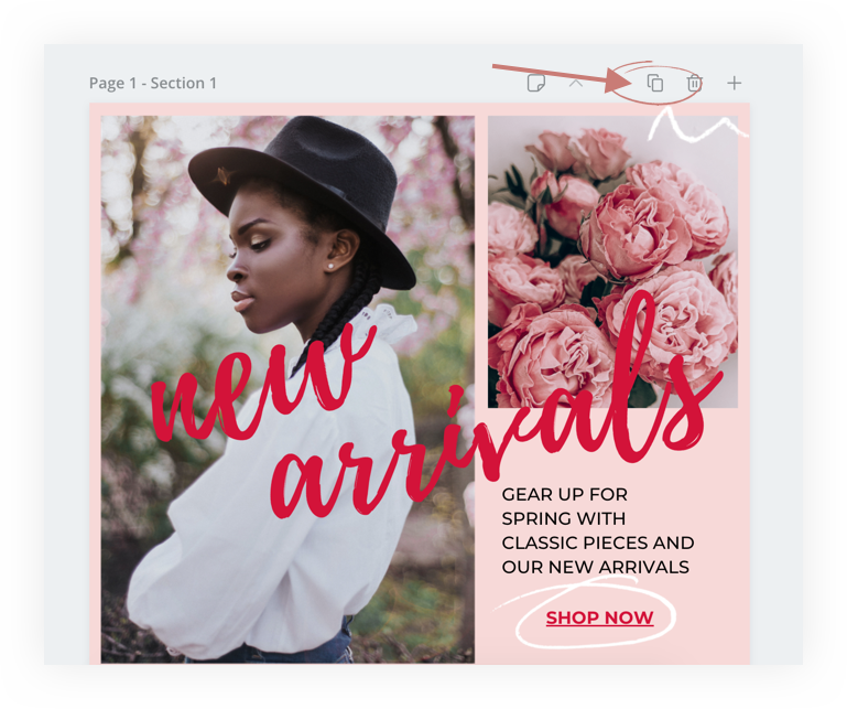 how to duplicate pages in canva