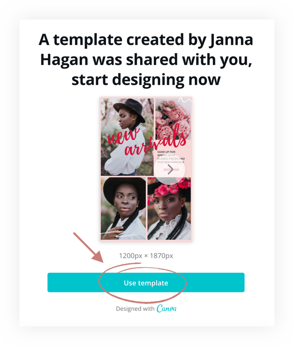 use this template in canva