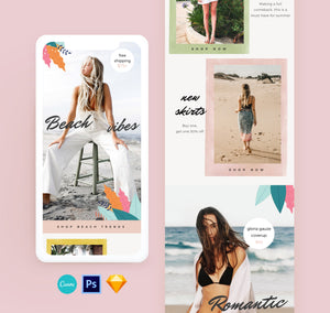 tropical email design template