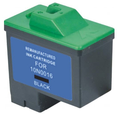 Lexmark 10N0016 (# 16) T0529 Black Remanufactured Ink Cartridge
