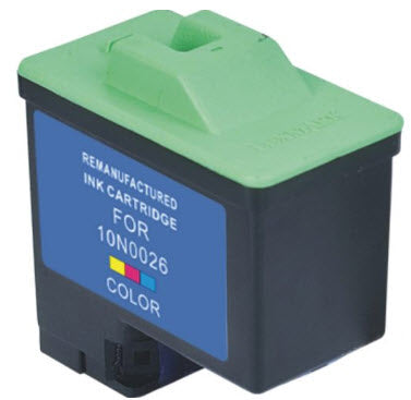 Lexmark 10N0026 (# 26) T0530 Color Remanufactured Ink Cartridge