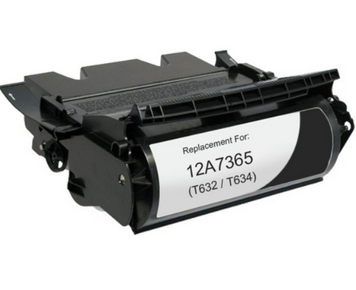 Lexmark 12A7365 Black Compatible U.S. Made MICR Toner
