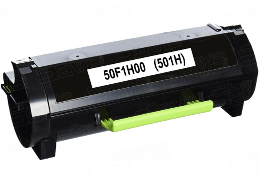 Lexmark 50F1H00 (501H) Black Compatible U.S. Made Laser Toner