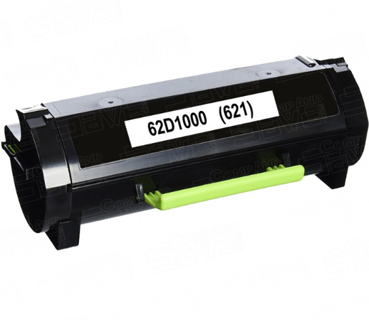 Lexmark 62D1000 (621) Black Compatible U.S. Made Laser Toner
