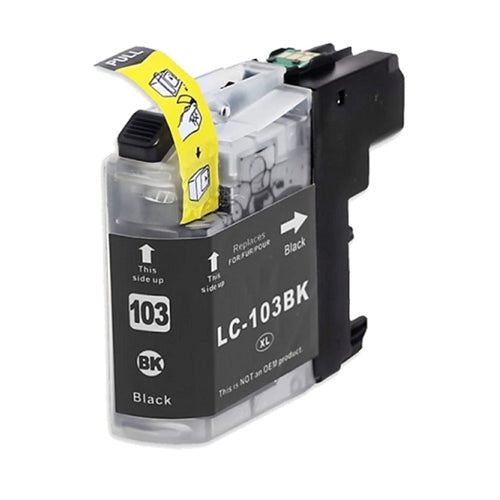 Brother LC103BK Black U.S. Made Remanufactured Ink Cartridge