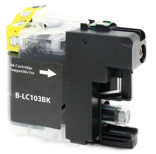 Brother LC103BK Black Remanufactured Ink Cartridge