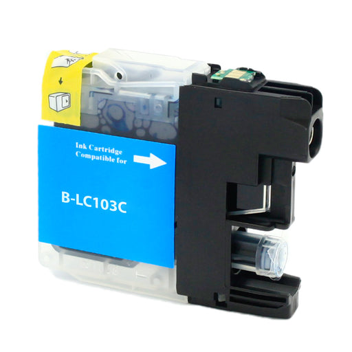 Brother LC103C Cyan U.S. Made Remanufactured Ink Cartridge