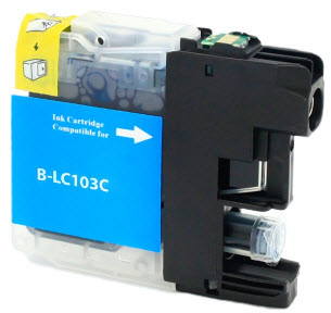 Brother LC103C Cyan Remanufactured Ink Cartridge