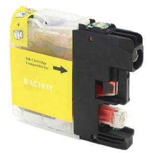 Brother LC103Y Yellow Remanufactured Ink Cartridge