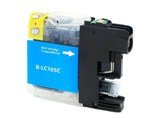 Brother LC105C Cyan U.S. Made Remanufactured Ink Cartridge
