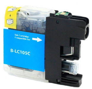Brother LC105C Cyan Remanufactured Ink Cartridge