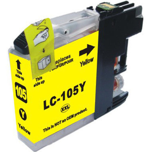 Brother LC105Y Yellow U.S. Made Remanufactured Ink Cartridge