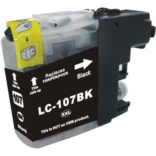 Brother LC107BK Black U.S. Made Remanufactured Ink Cartridge