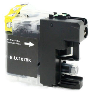 Brother LC107BK Black Remanufactured Ink Cartridge