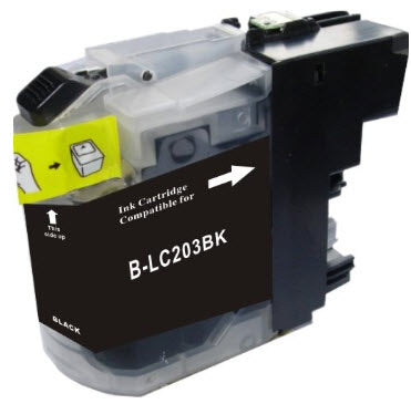 Brother LC203BK Black Remanufactured Ink Cartridge