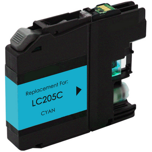 Brother LC205XXLC Cyan Compatible U.S. Made Ink Cartridge