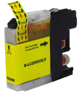 Brother LC205XXLY Yellow Compatible Ink Cartridge