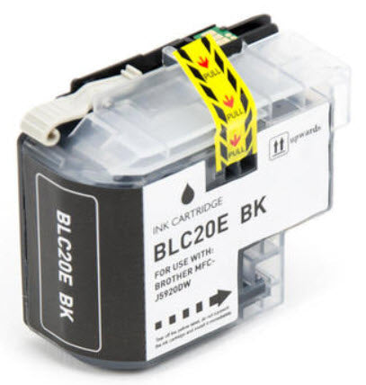 Brother LC20EBK Black Compatible Ink Cartridge