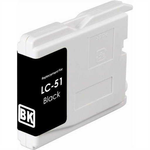 Brother LC51BK Black Compatible U.S. Made Ink Cartridge