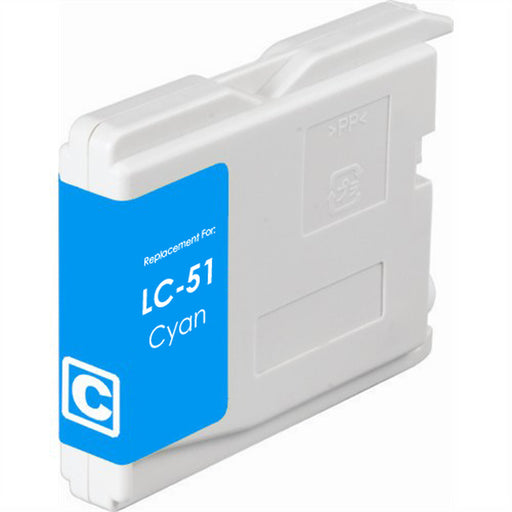 Brother LC51C Cyan Compatible U.S. Made Ink Cartridge