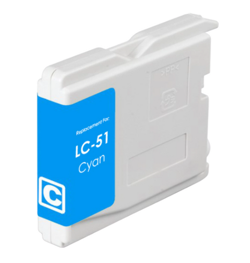 Brother LC51C Cyan Compatible Ink Cartridge