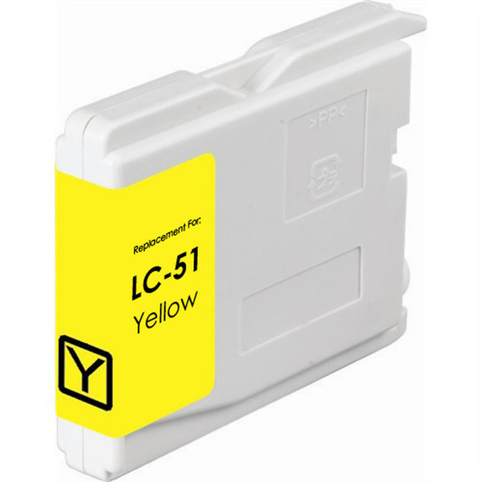 Brother LC51Y Yellow Compatible U.S. Made Ink Cartridge
