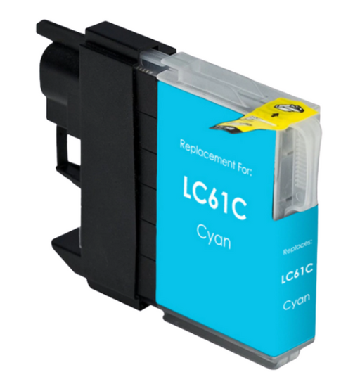 Brother LC61C / LC65C Cyan Compatible U.S. Made Ink Cartridge