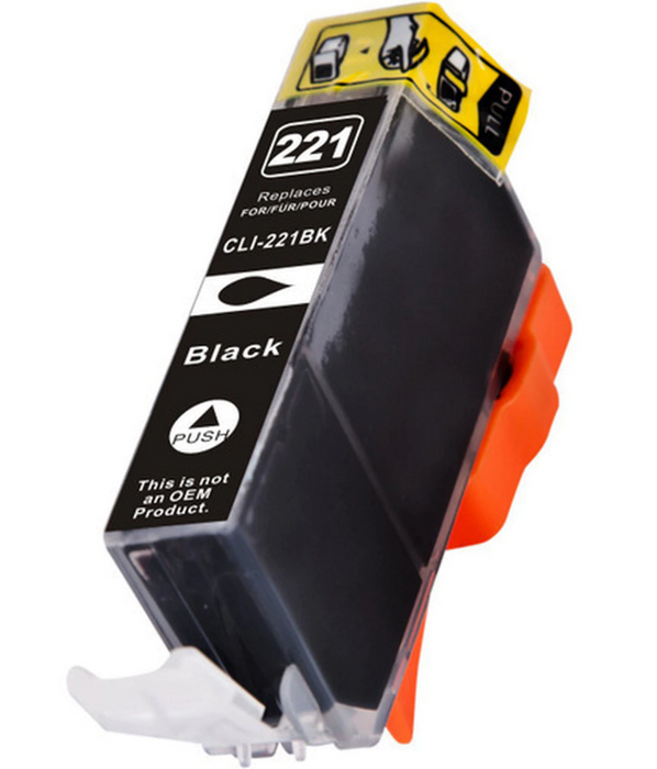 Canon CLI-221BK Black Compatible U.S. Made Ink Cartridge