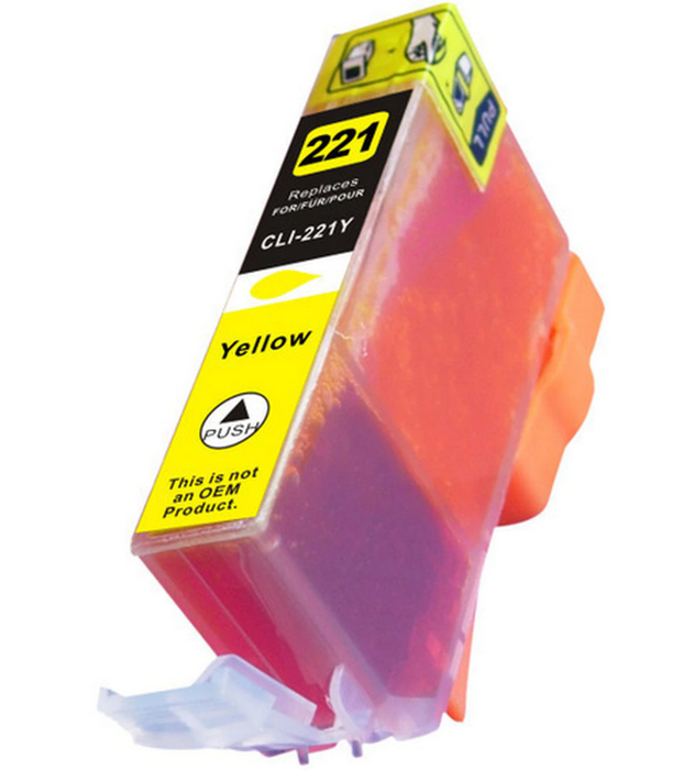 Canon CLI-221Y Yellow Compatible Ink Cartridge