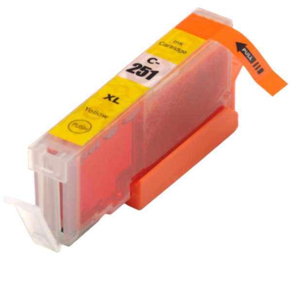 Canon CLI-251XLY Yellow Compatible Ink Cartridge