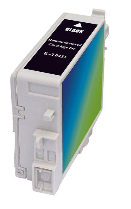 Epson T043120 (T0431) Black Remanufactured Ink Cartridge